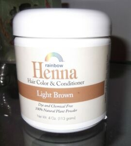 RAINBOW RESEARCH LIGHT BROWN HENNA HAIR CONDITIONER, 113gms, VEGAN, NO CRUELTY