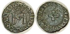 Navarre - Henri d'Albret - Liard à la croisette 1516-1555 PA.3411 TTB++