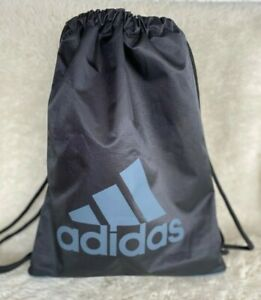 Adidas Unisex Backpack Black Gray Drawstring Dual Handle Large