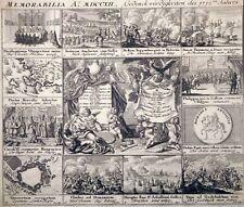 Radierung, Memorabilia 1712 C. Weigel, Brasilien, Toggenburg,Stato dei Praesidii