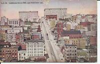 California Street Hill San Francisco Aerial View 1910 Postcard