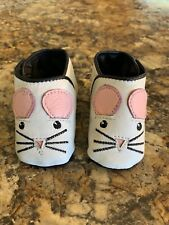 NEW! Leather Baby Infant Shoes Booties Mouse / Elephant (0-6 months)
