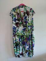 Suzi Chin for Maggy Boutique Faux Wrap Dress Plus Size 20W Floral Ruched waist