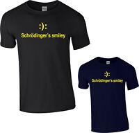 Schrodinger's Smiley T-Shirt,Quantum Physics Science Gift Cat Adult Kids Top
