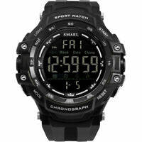 SMAEL Men's Military Digital LED Large Face Alarm Chrono Sport Watch Waterproof