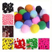 100pcs Fluffy Craft PomPoms Balls 10 color Pom Poms About 15mm Diamet DIY