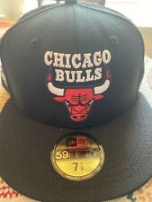 Chicago Bulls Black 6x NBA Champs Green Bottom Fitted Hat Size 7 5/8