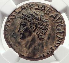 CLAUDIUS Authentic Ancient 41AD Genuine Original Roman Coin MINERVA NGC i71723