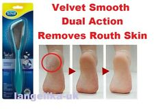 Scholl Dual Action Velvet Smooth Foot FILE Removes Rough Skin - Diamond Crystals