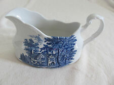 J & G Meakin-Romantic England Blue- Whittington Inn - Gravy Boat