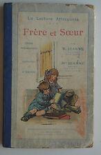 La lecture Attrayante Frére et Soeur - Cour préparatoire W Jeanne1933