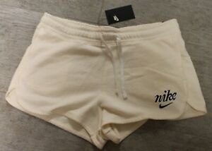 Nike Ladies Shorts Short Sweatpants Pants White Elfenbein Size XL New With Label