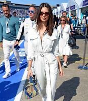 TX Womens White Denim Jumpsuit with Belt and Long Sleeve UK Stock S M L