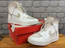 Nike De Las Señoras UK 5 EU 38.5 arrasado Gamuza Cuero Blanco Entrenadores T