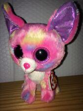 "Ty Beanie Boo Boos CANCUN the Chihuahua 7"" Glitter Eyes RED Tag NEW - MWMT"