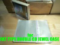 Resealable Outer Plastic Sleeves for FAT TYPE DOUBLE CD Jewel Cases 100