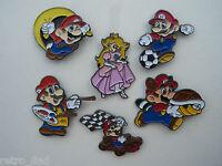 Super Mario NINTENDO 1993 Rare SET of 6 Enamel Metal PIN BADGES Pins Badge LOT
