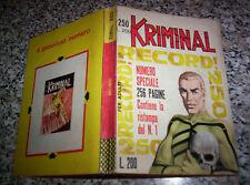 KRIMINAL N.250 ORIGINALE SPECIALE 1970 CORNO OTTIMO TIPO SATANIK-DIABOLIK-MAGNUS
