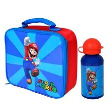 Super Mario - Insulated Lunch Bag & Aluminium Drink Bottle *BRAND NEW*