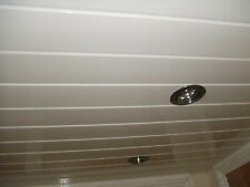 10 decorative bathroom pvc plastic ceiling cladding grooved white plank