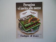 advertising Pubblicità 1971 PERUGINA CASTAGNE DI BOSCO
