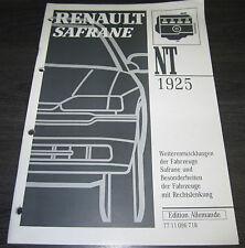 Werkstatthandbuch Renault Safrane Besonderheiten Rechtslenker Weiterentwicklung