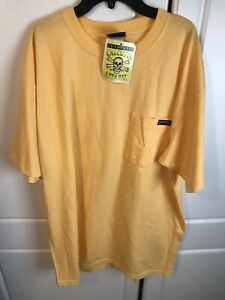 NEW Authentic Calcutta T-Shirt Yellow Short Sleeve New With Tags XL