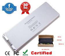 Batterie 10.8V 59Wh blanc compatible Apple Macbook 13 pouces A1185 A1181 Neuf