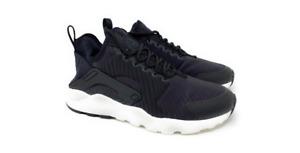 Women's Nike Air Huarache Run Ultra SE Shoes Black/Grey-White  859516-003 NEW