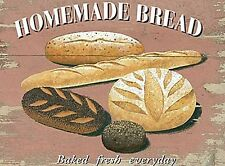 Homemade Bread Cafe & Restaurant Baked Retro Vintage Novelty Fridge Magnet