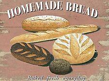 Homemade Bread Cafe & Restaurant Baked Retro Vintage Novelty Fridge Magnet