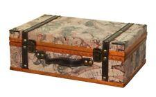 Vintage Suitcase Trunk Train Case Leather Suitcases Retro Antique Luggage Decor