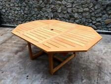 Outdoor furniture teak dining table raw Octagonal extension RTA
