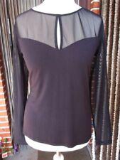 Exclusives Stretch Shirt XL L 44 46 48 H&M Viskose Mesh Schwarz trendig+elegant