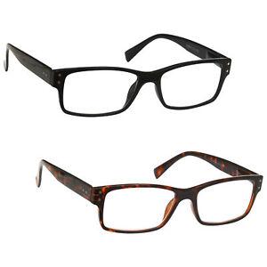 Mens Large Designer Style Reading Glasses Spring Hinges UV Reader R11