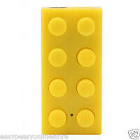 Yellow Building block brick style Mp3 player plus 2gb Micro TF SD Card Available