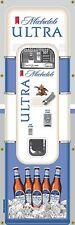 MICHELOB ULTRA BEER VENDING MACHINE RETRO VINTAGE ART BANNER MURAL SIGN 2' x 6'