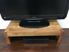 "26"" & 38""  TV Riser Stand Modern Stand Rustic Style Solid Hardwood Medium Color"