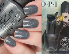 OPI Alice WHAT TIME ISN'T IT? Deep Gray Silver Glitter Nail Lacquer Polish DDA16