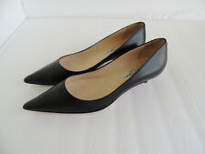 Jimmy Choo Kitten Heel Black Leather Pointed Toe Pumps Shoes  Size 38.5 Us 8