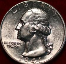 Uncirculated 1941-D Denver Mint Silver Washington Quarter
