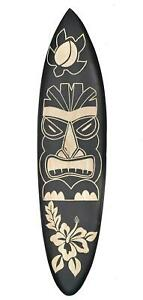 Tiki Deko Surfboard aus Hartholz 100cm zum Aufhängen Surfbrett Hawaii Maui