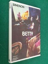 George SIMENON - BETTY , Mondadori Scrittori italiani (1° Ed 1978) Libro