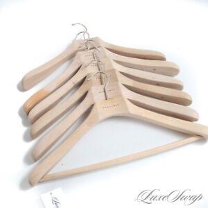 NWOT LOT X6 Boglioli Milano Natural Unglazed Wood Wide Jacket Suit Hangers NR #9