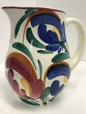 New ListingVintage Pottery Pitcher Flowers Hand Turned Painted West Germany Numbered 5�