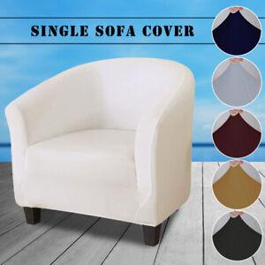 Soft Milk Silk Tub Chair Armchair Slipcover Single Sofa Cover Furniture Protect