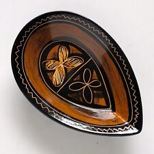 Pip Gray NZ Small Ceramic Dish in Black and Earth Tones with Clearcoat Glaze