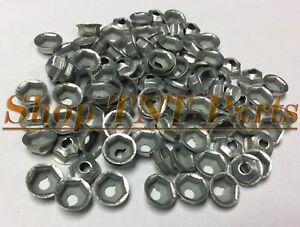 100pc Washer Lock Trim Nuts Thread Cutting #10-32 Zinc Coated Pal Nut GM Chevy