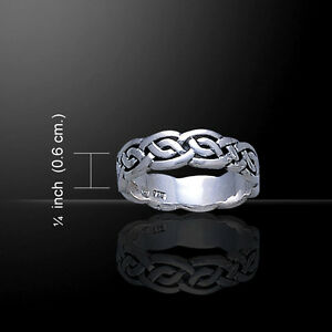 Celtic Knotwork Sterling Silver Ring by Peter Stone