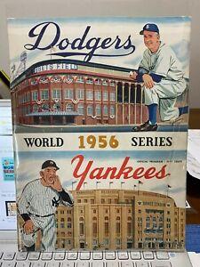 RARE DODGER VERSION OF 1956 WS PROGRAM / 2 ORIGINAL 1956 STAR PLAYERS